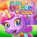 Cuidado lindo unicornio