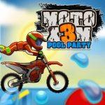 Moto X3M Fiesta en la piscina