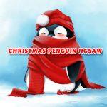 Rompecabezas de pingüinos navideños