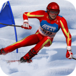 Simulador de esquí de slalom