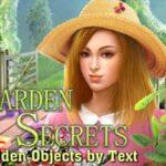 Garden Secrets Objetos ocultos por texto